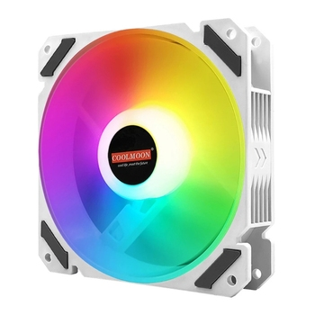 Coolmoon 120mm PWM ARGB PC Case Fan Quiet 4 Pin Addressable RGB Cooling Fan for CPU Cooler Computer Chassis