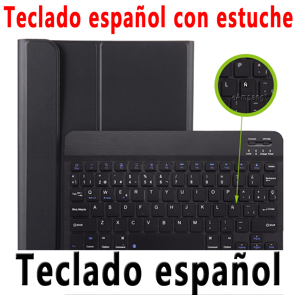 Spanish Keyboard Silver For iPad Pro 11 2020 2018 Keyboard Case with Pencil Holder Keyboard for Apple iPad Pro