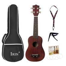 Mount Chain 21 дюймов Sapele Ukulele маленькая гитара 15 Лада Ukelele комплект с ремешком Капо концертный музыкальный инструмент
