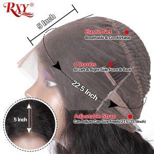 RXY Синтетические волосы на кружеве парики из натуральных волос на кружевной основе 360 Синтетические волосы на кружеве al парик глубоко вьющи...