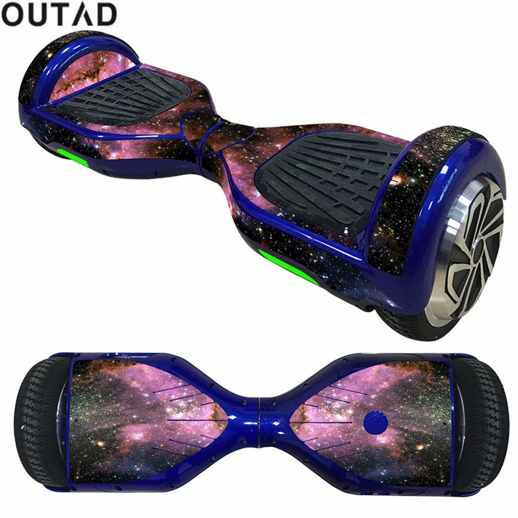 OUTAD 6.5inch Self Balancing Scooter Skin Decal Cover Stickers Electric Skate Board Sticker 2Wheel Protective Cover Case Sticker