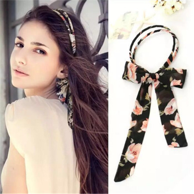 The New Cloth Ribbon Headband Sweet Small Fresh Hair Bands For Women Simple And Generous Handmade Hair Accessories