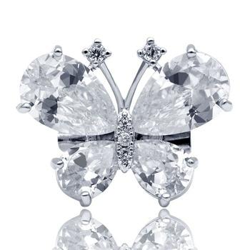 YoungTulip nueva moda Circonia cúbica mariposa Collar Pins para mujeres lindo creativo broche de insecto pequeñas joyas brillantes regalos pequeños