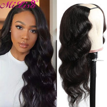 Body Wave U Part Wig Human Hair For Black Women Mi Lisa Machine Made Wig Brazilian Remy Hair 150% Density 30 Inch Body Wave Wig
