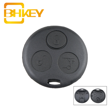 BHKEY for Mercedes Benz Key Shell 3Buttons Smart Car Fob Case MB Fortwo 450 Forfour Roadste