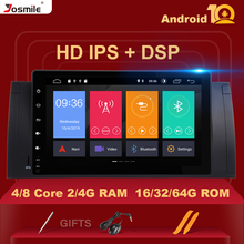 IPS DSP 8 Core 4GB 64G אנדרואיד 10 סטריאו לרכב עבור BMW X5 E53 BMW E39 5 סדרה מולטימדיה רדיו GPS אודיו RDS פלדת גלגל בקרה