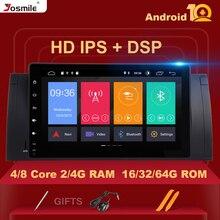 IPS DSP 8 rdzeń 4GB 64G Android 10 samochodowe stereo dla BMW X5 E53 BMW E39 5 serii multimedialne Radio GPS Audio RDS stalowe koło sterowania