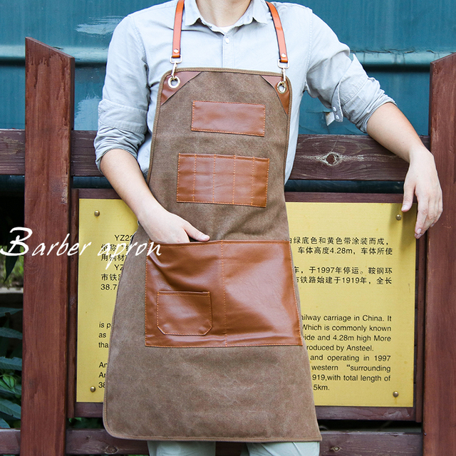 Canvas Kitchen Aprons For Chef Work 2