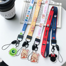 Cell Mobile Phone Camera Neck Lanyard Detachable Multifunction Strap ID Card Key Ring Holder Cartoon strap