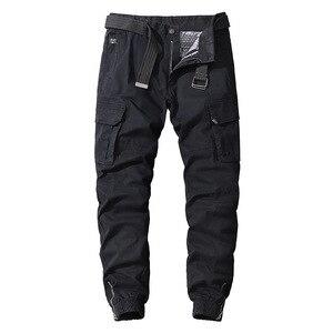 Мужские повседневные хлопковые брюки-карго с эластичной резинкой Открытый Пешие Походы тактические тренировочные штаны мужские военные многофункциональные карманные армейские брюки