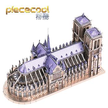 Piececool 3D Puzzle metalowe katedra NOTRE DAME paryż model budynku zestawy zabawki-puzzle dla dzieci tanie i dobre opinie Roronoa Zoro CN (pochodzenie) Unisex 12-15 lat STARSZE DZIECI 8 lat 8-11 lat Inteligentna plansza układanka be careful of the edges