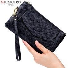 Sac à main en cuir véritable pour femmes, portefeuilles tendance, pochette Ultra fine à bracelet, porte monnaie pour téléphone, petite pochette