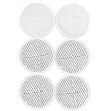 6 Pcs Mop Pads Replacement for Bissell 2124 2039A Spinwave Hard Floor (2 Soft Touch + 4 Scrubby Pads)