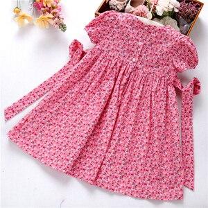 Image 5 - Smocked ชุดสำหรับหญิง frock handmade ผ้าฝ้ายเสื้อผ้าเด็กชุดเด็กฤดูร้อนเย็บปักถักร้อยโรงเรียนวันหยุดบูติก