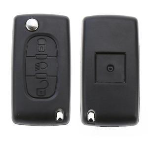 Image 3 - Портативный складной чехол книжка с 3 кнопками и дистанционным управлением для CITROEN C2 C3 C4 C5 C6, чехол брелок без ключа, чехол для автомобильной сигнализации