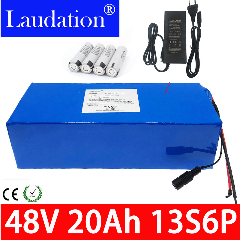 new 48V20Ah 13s6p <font><b>batery</b></font> pack lithium ion battery Electric car electric scooter built-in 30a bms <font><b>48v</b></font> With 2a battery charger bms image