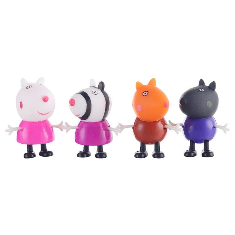 Оригинальные куклы Peppa Pig, Джордж, 25 шт., набор, фигурки из аниме, игрушки из мультфильма, семейные друзья, Свинка Пеппа, вечерние игрушки для детей, подарок на день рождения, Рождество