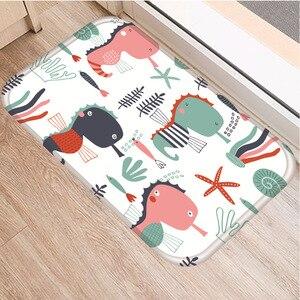 Image 4 - 小動物パターンノンスリップ寝室の装飾ソフトカーペット台所の床リビングルームのフロアマット浴室ノンスリップマット40x60センチメートル。