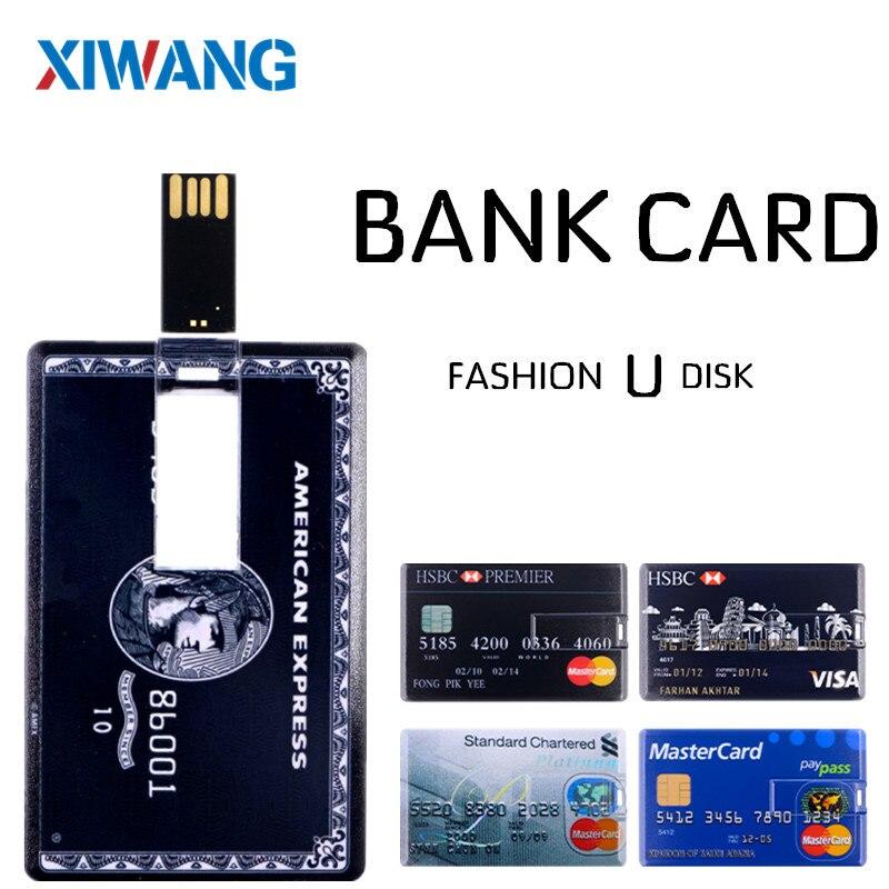 XIWANG Новый USB 2,0 флэш накопитель 64 ГБ 4 ГБ 8 ГБ 16 ГБ 32 ГБ 128 ГБ USB флэш накопитель реальная емкость для кредитных карт Флешка карта памяти-in USB флэш-накопители from Компьютер и офис