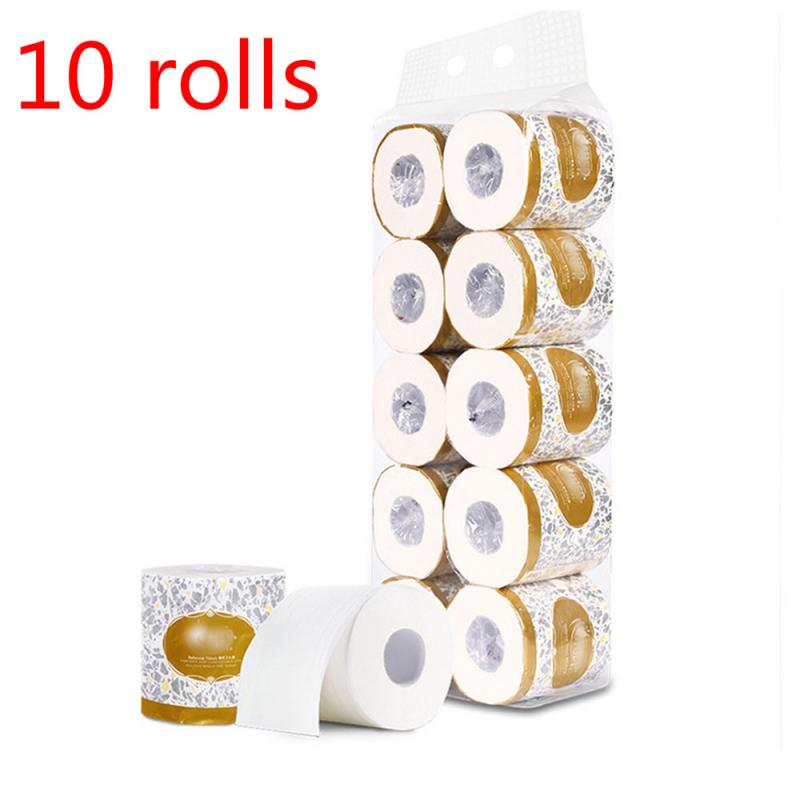 Comfort Toilet Tissue 10 Rolls Toilet Paper Bulk Bath Bathroom Tissue White 3 Ply Household Soft Skin-friendly Paper Hot Sale US