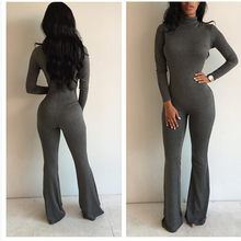 2020 Mesh Yoga Sets Trendy Women Long Sleeve Bodycon Jumpsuit Female Sexy Slim Casual Playsuits Clubwear OutfitsSportswear Set(China)