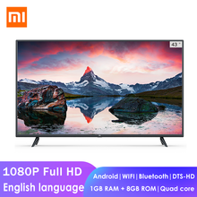 Xiaomi Mi 1080P Full HD Smart LCD TV 4X 43-inch 64-bit Quad Core 1GB+8GB Dolby Android WIFI bluetooth Network Flat television