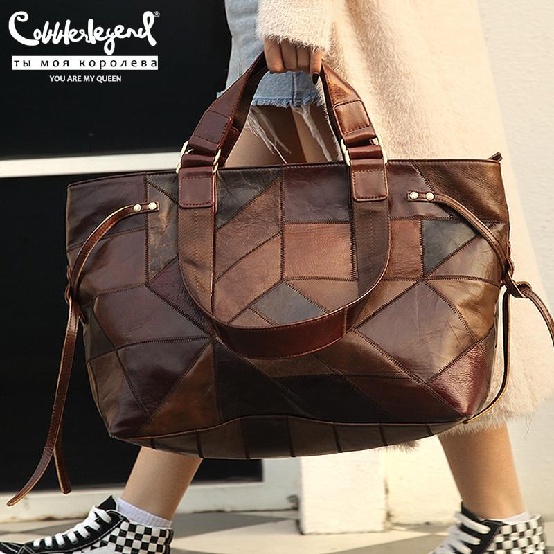 Cobbler Legend Big Bag for Women 2020 Genuine Leather Shoulder Bag Vintage Fashion Female Luxury Handbag Bags Designer New Totes|Shoulder Bags| - AliExpress