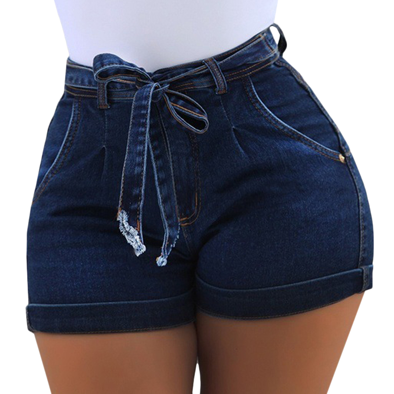 VICABO Women's Shorts Jeans With Belt Poacket High Waist Shorts Women Jeans Shorts Summer 2020 Women's Fashion Clothes