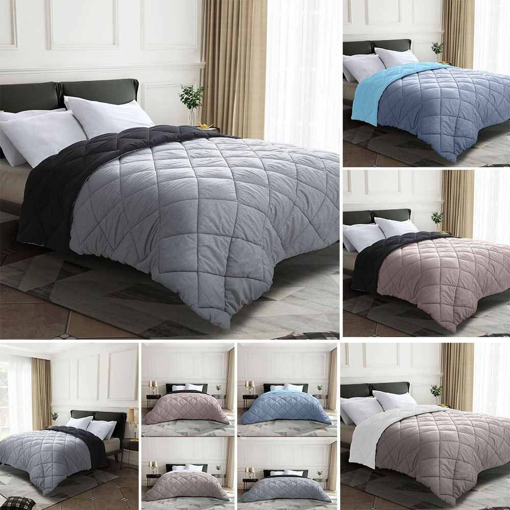 Premium Box-Stitched Goose Down Comforter/Duvet Insert 3 Colors  All Season