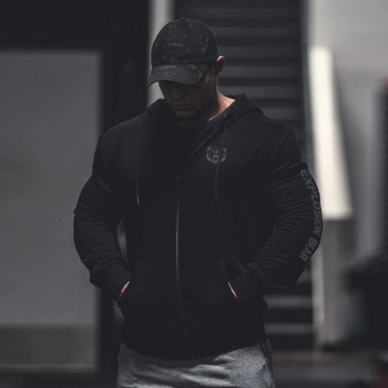 2019 Autumn Men's Gyms Hoodie Fitness Bodybuilding Sweatshirt Men's Fitness Jacket High Quality Cotton Hoodie Clothing