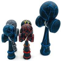 Профессиональная деревянная игрушка Kendama с красочным трещиным покрытием, умелая игрушка для жонглирования, мяч для снятия стресса для обуч...