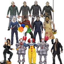 NECA 3D 13th Vrijdag Jason Leatherface Kettingzaag John timmerman Michael Myers Freddy Krueger Pennywise Joker Action Figure Speelgoed(China)