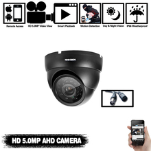 Super 5MP AHD Black Camera 24pcs IR LED 2560(H)*1920(V) With IR CUT Filter Day & Night Surveillance Home Dome Security Camera