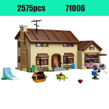 2575pcs Compatible lepining THE Simpsons Series 71006 Models Building Toy Simpsons House 16005 Building Blocks Toys & Hobbies фото