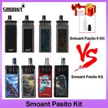 Original Smoant Pasito II 80W vape kit with 2500mAh battery 6ml Cartridge 510 Connector 0.96inch Screen Mod VS Smonat Pasito Kit