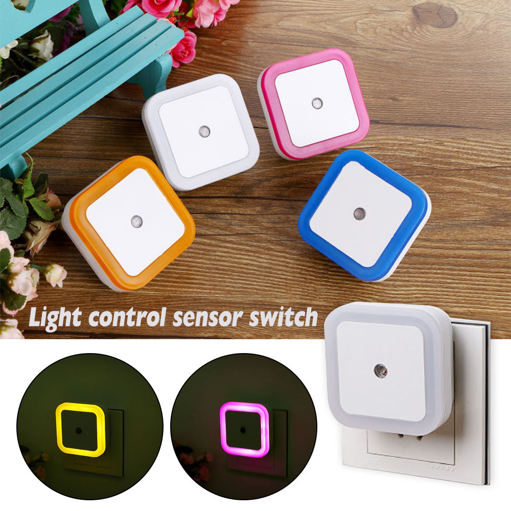 Light Sensor Control LED Night Light Lamp Toilet Light Control EU Plug Wall Lights Baby Bedroom Bedside Lamp Bulb Backlight Hot