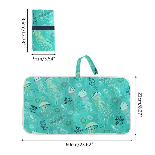 Portable Waterproof Baby Changing Mat Newborn Foldable Changing Diaper Nappy P31B | Happy Baby Mama
