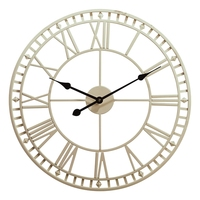 New Lron Art Garden Wall Clock Weatherproof with Roman Numerals Diameter 40Cm