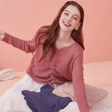 Женский шерстяной свитер на завязках artka разноцветный элегантный