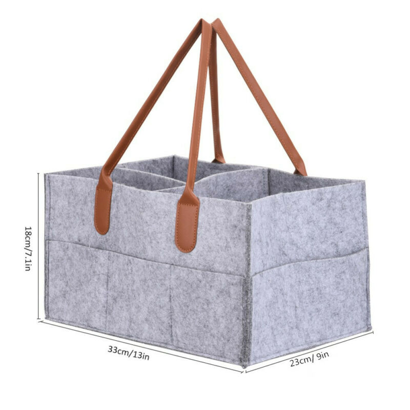 Felt Baby Diaper Caddy Nursery Storage Wipes Bag Nappy Organizer Container USA