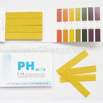 Pełny zakres PH kwas alkaliczny 1-14 lakmusowy papier testowy pasek Tester wskaźnik PH Partable 80 paski mierniki papieru analizatory szkoła tanie i dobre opinie CN (pochodzenie) PH Paper