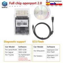 Tactrix openport 2.0 ecu flash chip tuning porta aberta 2.0 para toyota obd2 scanner para jlr sdd obd 2 obd2 carro de diagnóstico ferramenta automóvel