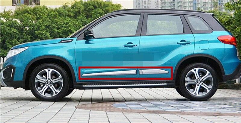 ABS Боковая дверь корпус молдинг крышка отделка защита украшения набор аксессуаров подходит для Suzuki Vitara 2015 2018 порога