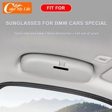 اللون حياتي اكسسوارات لسيارات BMW 3 سلسلة G20 2020 2021 سيارة حامل نظارات نظارات تخزين السيارات تنظيم حامل نظارات شمسية