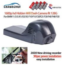 Nova plug and play carro dvr wi fi gravador de vídeo câmera traço cam para bmw 1/3/5/x1/x3/x5 f10 f15 f20 f25 f40 f48 f31 hd completo