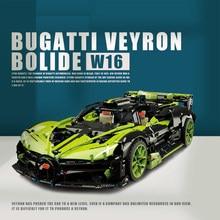 Technical Mechanical Series French famous Racing car Green Supercar Building Blocks Bricks 3588pcs Kids Toys Boy Birthday Gifts