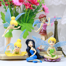 1/5/6/7 pcs/set Tinkerbell Princess Fairy Action Figure Cartoon Anime Miss Bell Cake Decoration Girl Toy Baby Gifts
