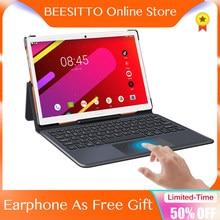 Global 4g lte android tablets 10.5 Polegada 1920*1200 2.5k ips tela deca núcleo 6gb + 128gb rom 13.0mp gps portátil netbook