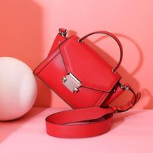 Vento Marea Designer Bags Famous Brand Women 2018 Cow Leather Pink Purses Ladies Party Shoulder Handbags Metal Cross Body