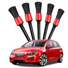 5pcs Detailing Brush Car Wash Brush for Washing Car Interior Cleaning Wheel Gap Rims Dashboard Air Vent Trim Detailing Tool